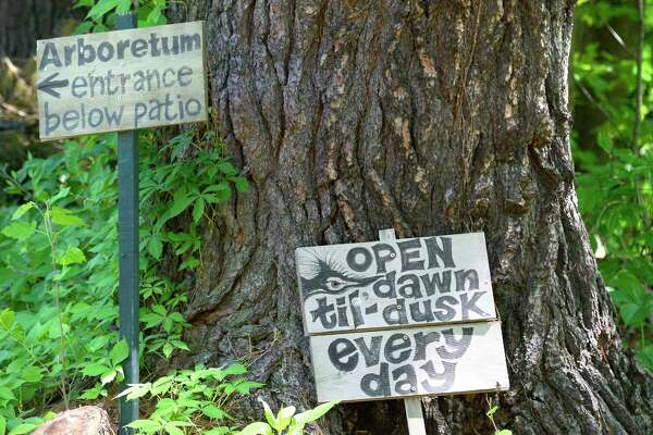 Entrance to the Pine Hollow Arboretum Thursday May 24, 2018 in Slingerlands, NY.  (John Carl D'Annibale/Times Union)