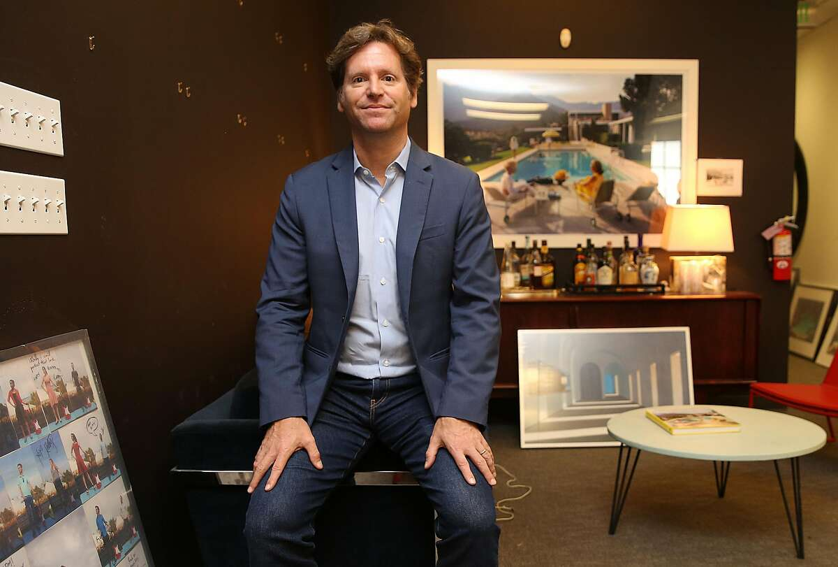 SF tech entrepreneur and socialite Trevor Traina shows his office where art is being packaged and transported on Tuesday, May 15, 2018 in San Francisco, Calif. Traina will be accepted as Ambassador to Austria at a special ceremony at the Presidential Palace in Vienna.