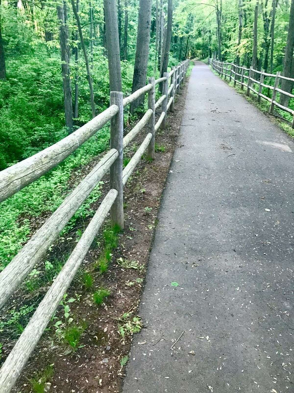 TheTuttle loop section of the Westlake and Mattabesset Bike and Walking Trail in Middletown