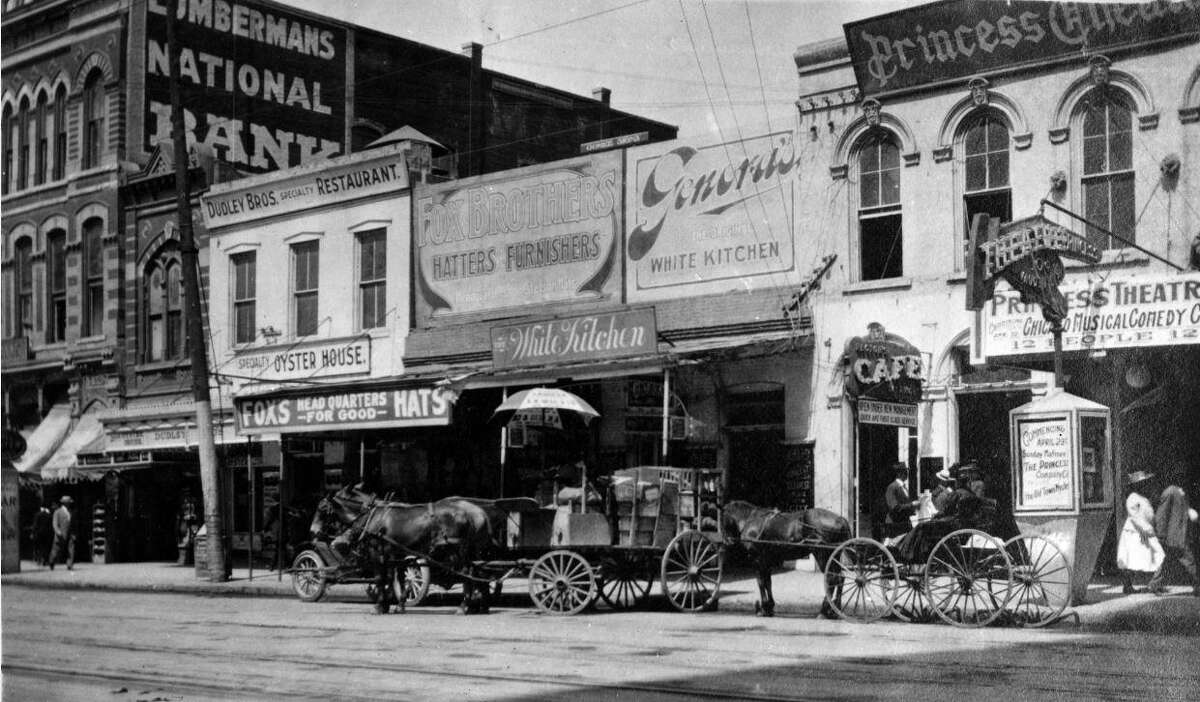 """Genora's White Kitchen was located at 412 Main St., Houston, from 1905 to 1914. From """"Lost Restaurants of Houston"""" by Paul and Christiane Galvani."""