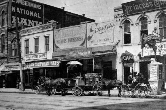 "Genora's White Kitchen was located at 412 Main St., Houston, from 1905 to 1914. From ""Lost Restaurants of Houston"" by Paul and Christiane Galvani."