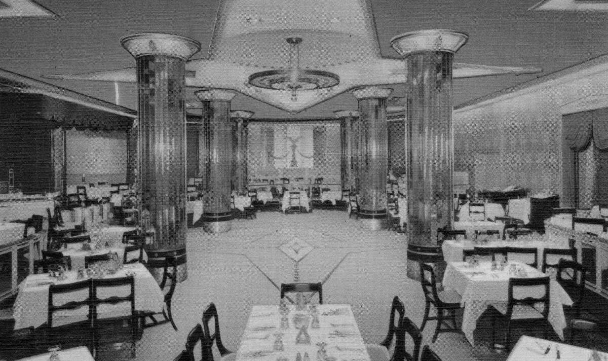 """The Empire Room at the Rice Hotel, Houston, from """"Lost Restaurants of Houston"""" by Paul and Christiane Galvani."""