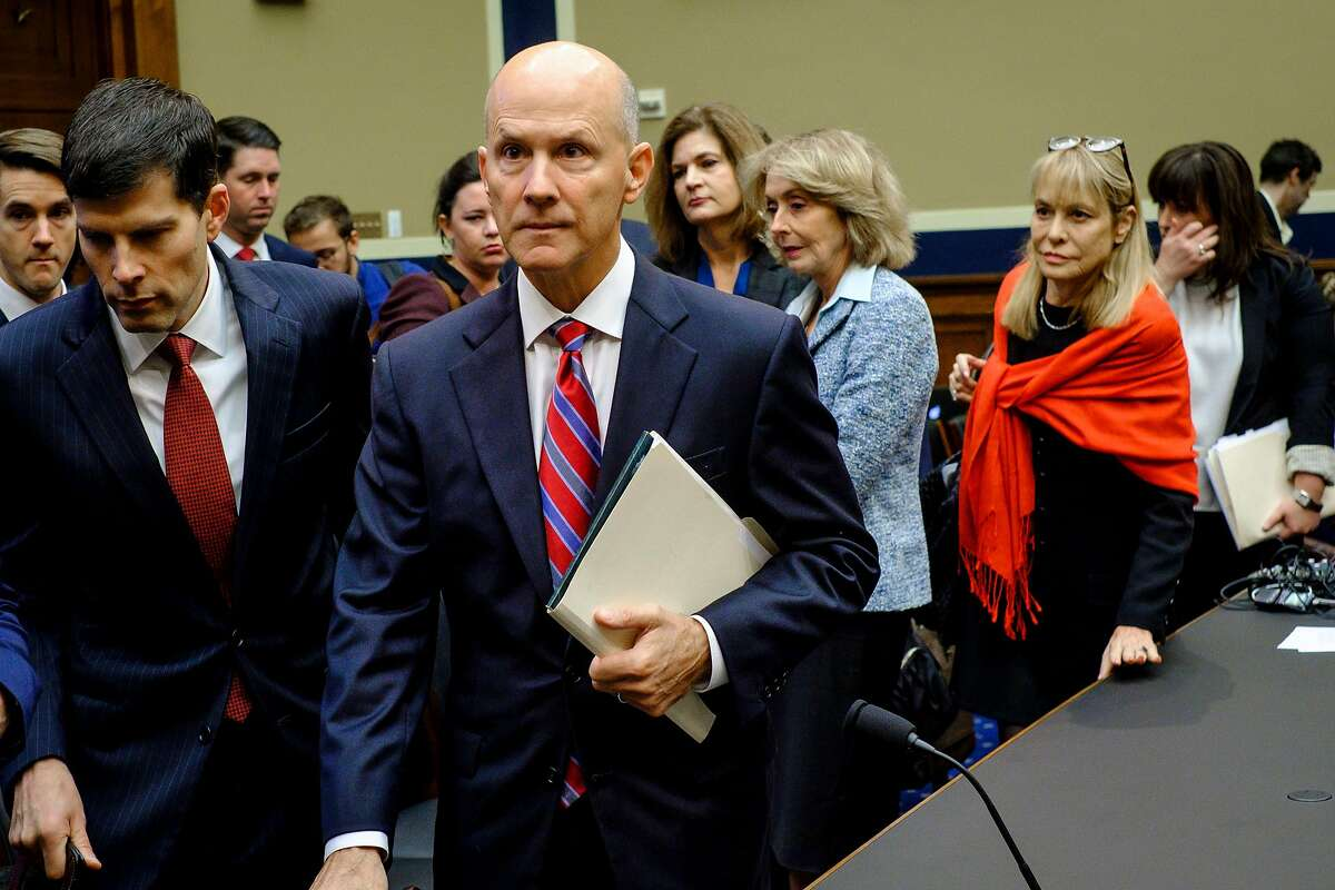 FILE � Richard Smith, the former chief executive of Equifax, arrives to testify before the House Energy and Commerce Committee in Washington, Oct. 3, 2017. When asked whether people should be able to delete their data from Equifax�s systems, he eventually said that his answer was no. (Pete Marovich/The New York Times)