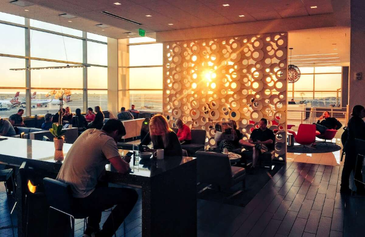 One of the best perks of Delta's Reserve card is Sky Club membership-- photo is from SFO