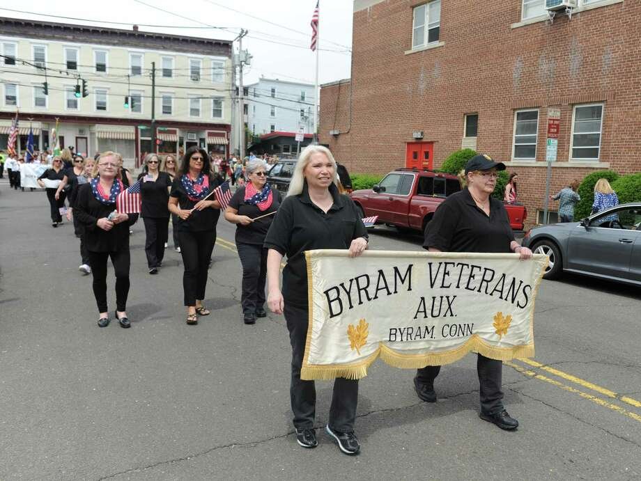 The Byram Veterans Association parade commemorating Memorial Day will step off at 1 p.m. Sunday from its headquarters at 300 Delavan Ave. and finish with a brief ceremony in front of the Byram Shubert Library. In celebration of the Association's 70th anniversary, a block party will be held immediately afterward at its headquarters. Photo: File / Tyler Sizemore / Hearst Connecticut Media / Greenwich Time