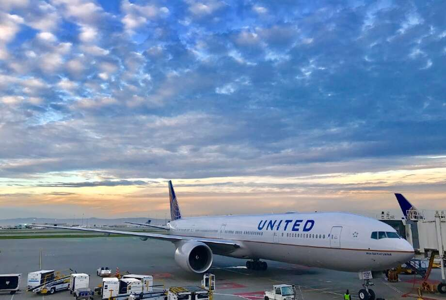 #1 UNITED. United's brand new Boeing 777-300ER arrives at SFO for the first time (Photo: Chris McGinnis) Photo: Chris McGinnis