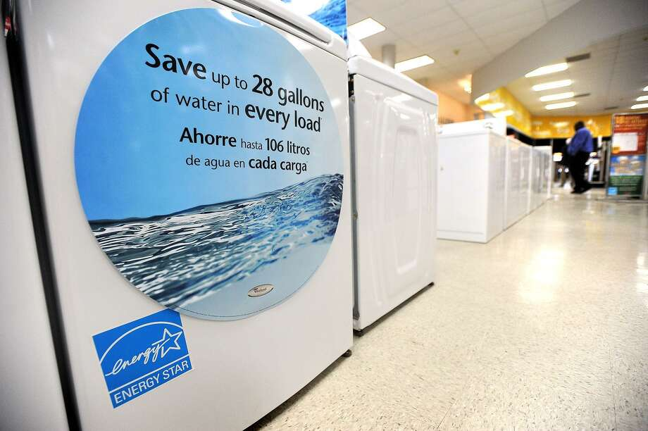 Many household appliances with an Energy Star rating qualify for the annual Texas's Water-Efficient Products Sales Tax Holiday, May 26-28. Photo: Guiseppe Barranco / Guiseppe Barranco/The Enterprise / Beaumont