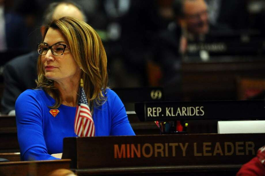 House Minority Leader Themis Klarides, R-Derby, during the Connecticut State Legislature's first session of the year inside the House chamber of the State Capitol in Hartford, Conn. on Wednesday, Feb. 7, 2018. Photo: Michael Cummo / Hearst Connecticut Media / Stamford Advocate