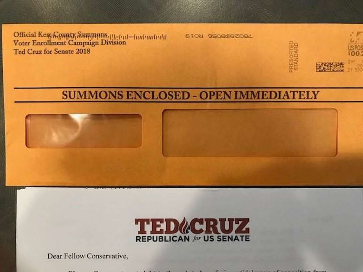 A campaign plea by the Cruz campaign looks suspiciously like a legal summons.