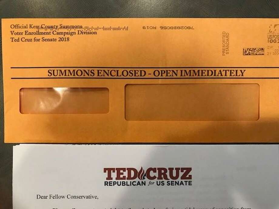 A campaign plea by the Cruz campaign looks suspiciously like a legal summons. Photo: /