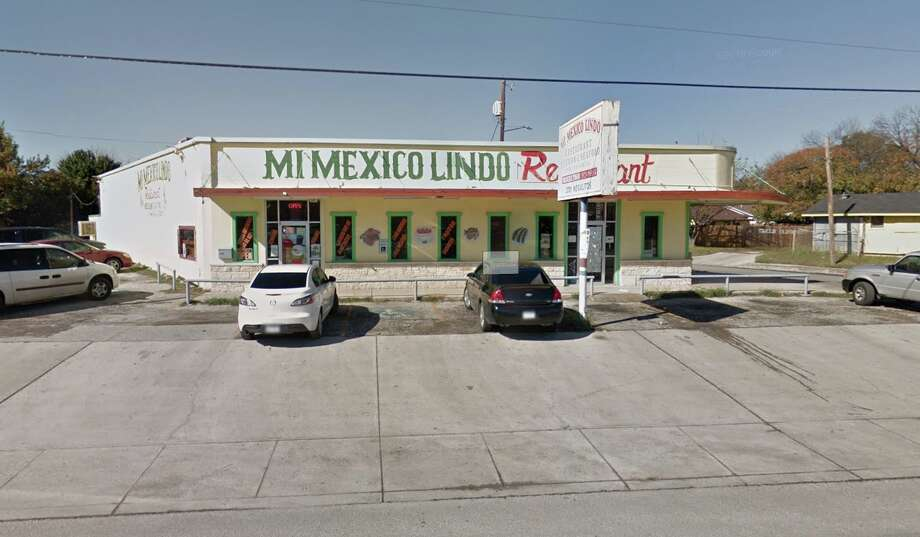 Mi Mexico Lindo: 3701 Nogalitos St. Date: 11/25/2019 Score: 84 Highlights: At time of inspection, hand sink was blocked by trash bin. Food in refrigerator, such as shrimp, beans, etc. is not covered. Observed employee drink at cold hold unit. Baking powder container used to store boiled red peppers. Photo: Google Maps
