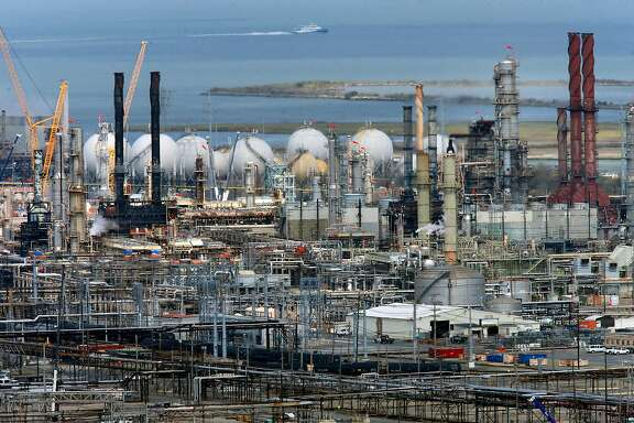 The Chevron refinery in Richmond, Ca., as seen  on Tuesday September 12,  2017. A new study is laying blame for the warming of the planet on 90 companies, with Chevron and Exxon squarely at the top of the list.