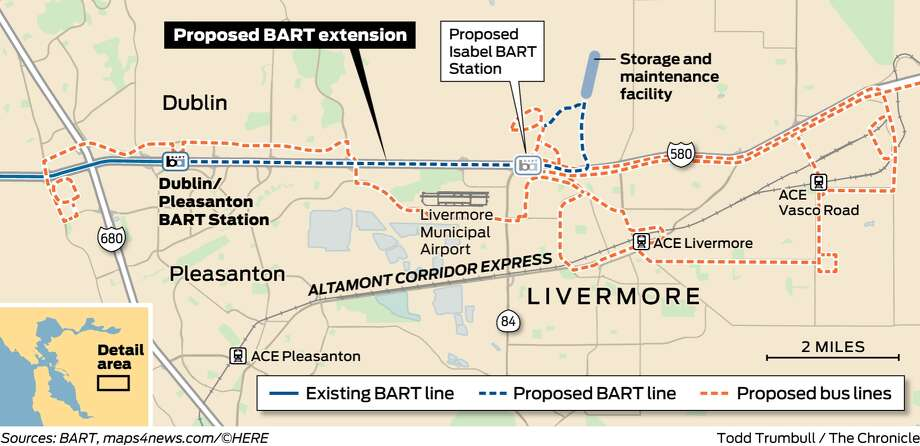 BART board votes down extension to Livermore - SFGate