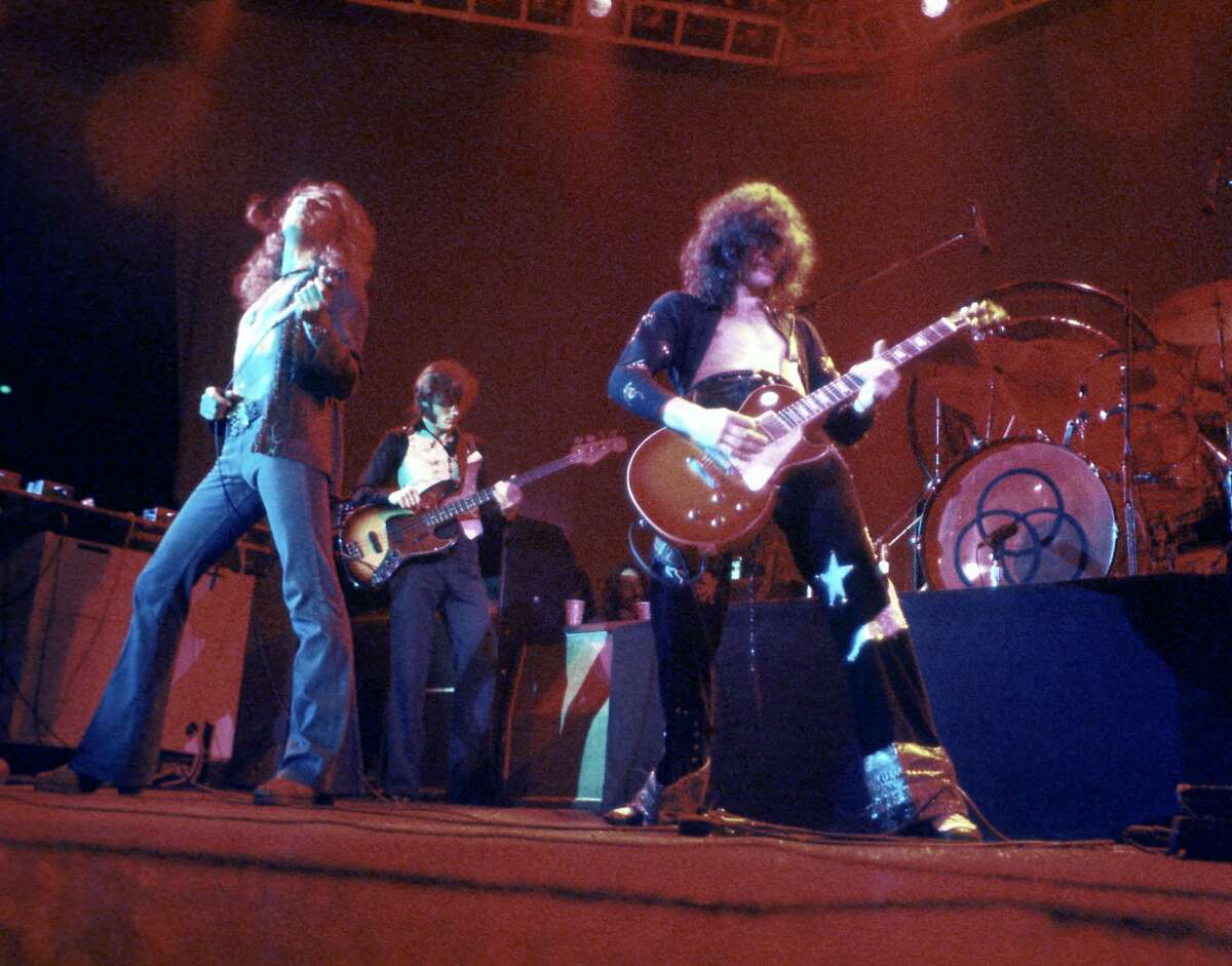 LOS ANGELES - MARCH 24: Rock band 'Led Zeppelin' performs onstage at the Forum on March 24, 1975 in Los Angeles, California. (Photo by Michael Ochs Archives/Getty Images)