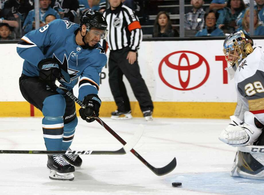 Evander Kane had 14 points (nine goals and five assists) in 17 regular-season games with the Sharks. Photo: Don Smith / NHLI Via Getty Images / 2018 NHLI