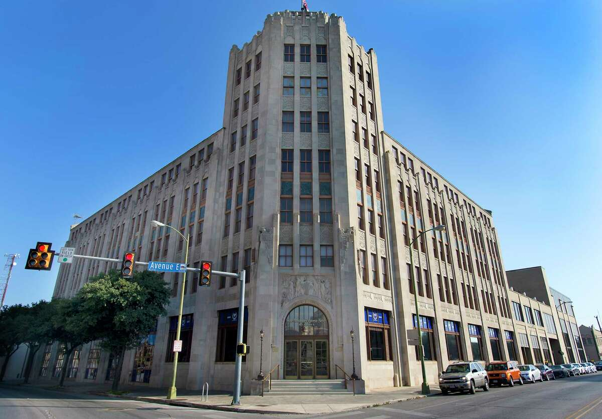 The front of the San Antonio Express-News building at the corner of Avenue E and 3rd Street is seen Thursday, Aug. 13, 2015.