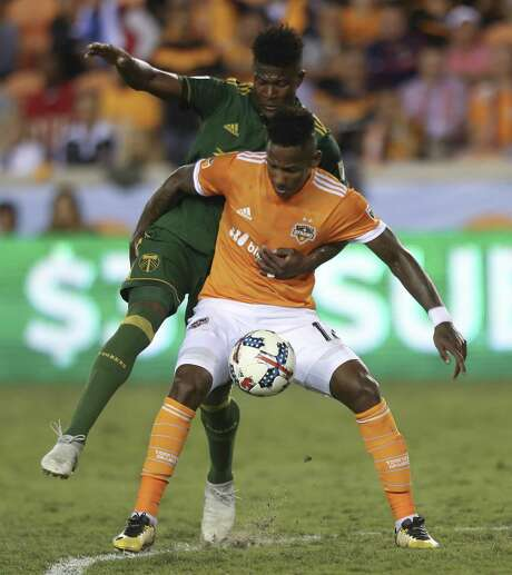Forward Romell Quioto has given the Dynamo a third offensive threat to count on when they take on New York City FC today at BBVA Compass Stadium. Photo: Yi-Chin Lee, Houston Chronicle / Houston Chronicle / © 2017  Houston Chronicle