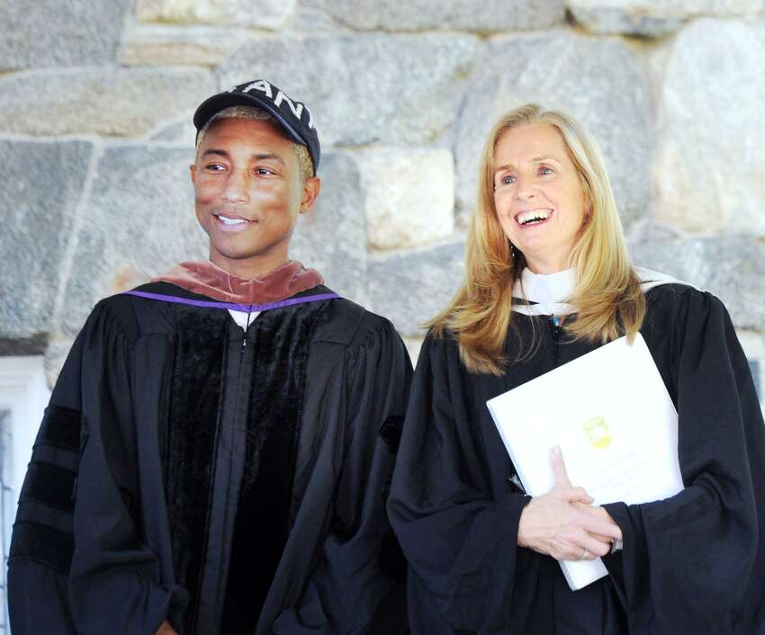 Pharrell Williams addresses the graduates at Greenwich Academy Any graduating senior only hopes to have a celebrity deliver their commencement speech but for Greenwich Academy's class of 2018, that dream became a reality. Pop icon Pharrell Williams was chosen as the commencement speaker for the school's 191st commencement, delivering a rousing speech to the young graduates.Williams urged the 90 graduates to tap into their inner superpowers to make a change in the world.