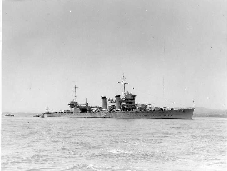 The heavy cruiser USS San Francisco, April 28, 1934  World Wide Photos
