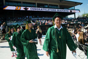 Scenes from H. H. Dow High School's commencement ceremony on Thursday, May 24, 2018 at Dow Diamond. (Katy Kildee/kkildee@mdn.net)