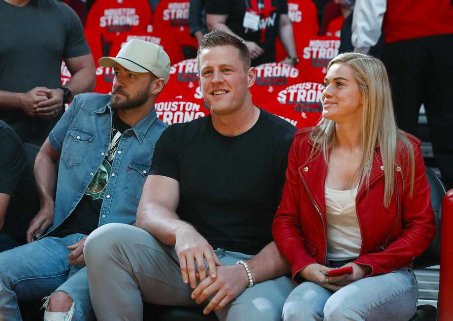 Whether he's hanging with the likes of Justin Timberlake or giving back to the greater Houston community, J.J. Watt won't be far from the minds of fans this offseason. Photo: Brett Coomer/Houston Chronicle