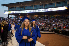 Scenes from Midland High School's commencement ceremony on Thursday, May 24, 2018 at Dow Diamond. (Katy Kildee/kkildee@mdn.net)