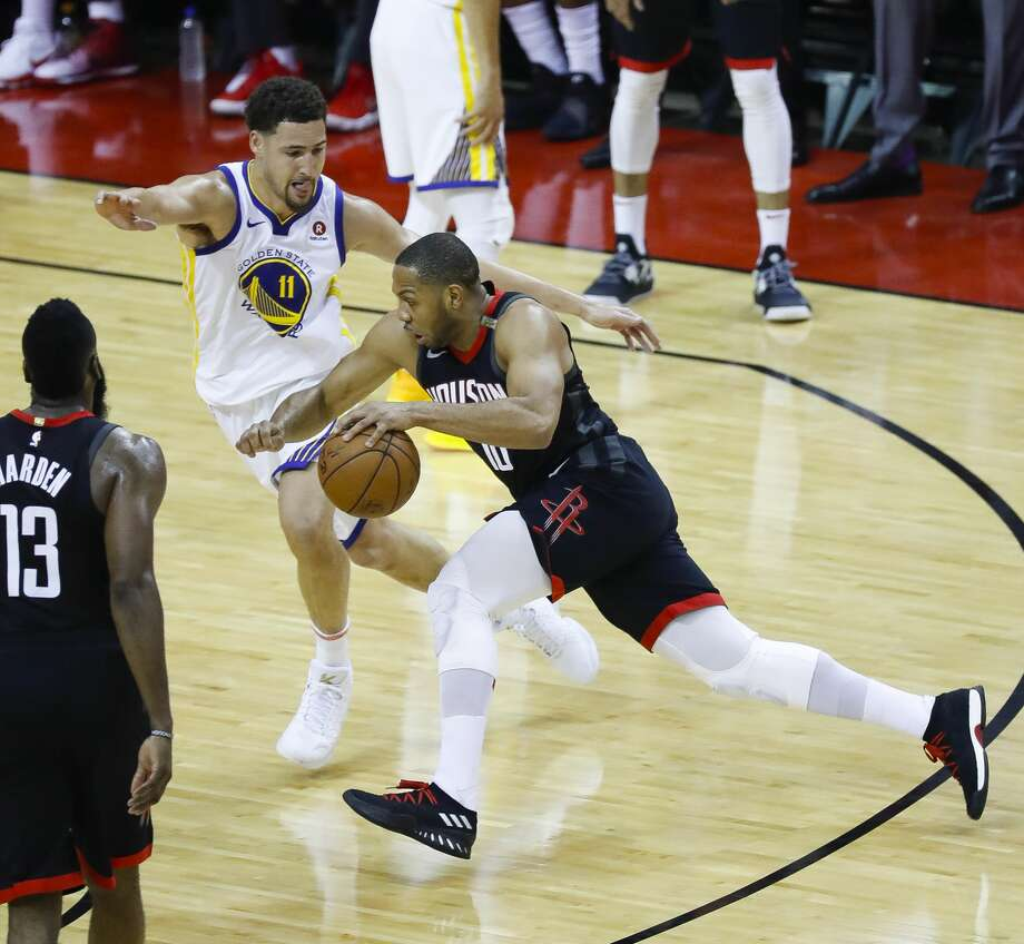 Eric Gordon gave the Rockets a spark off the bench in their Game 5 win over the Warriors on Thursday. Photo: Karen Warren/Houston Chronicle