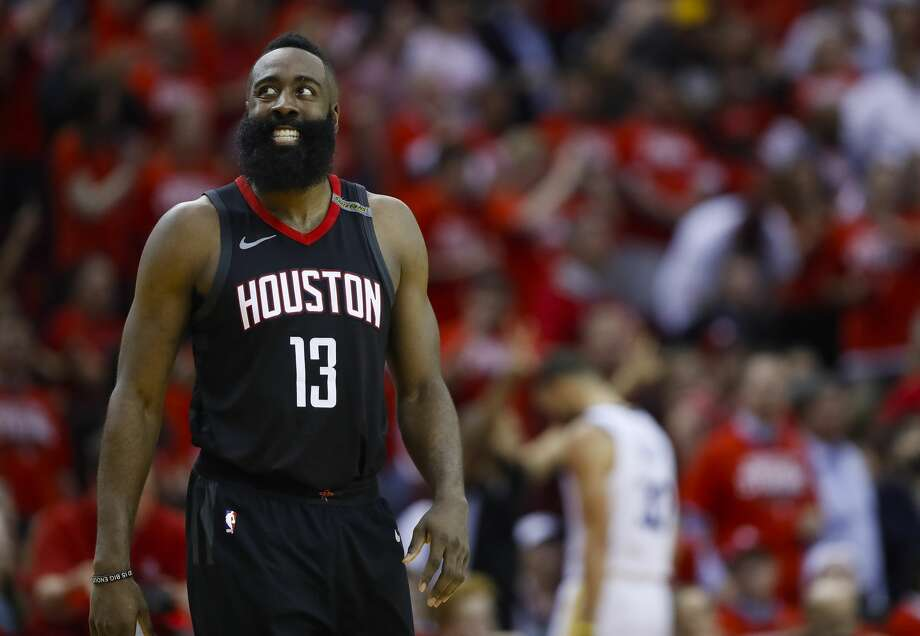 With Chris Paul out, even more will fall on the shoulders of James Harden as the Rockets look to close out the Warriors in Game 6 of the Western Conference finals Saturday. Photo: Brett Coomer/Houston Chronicle