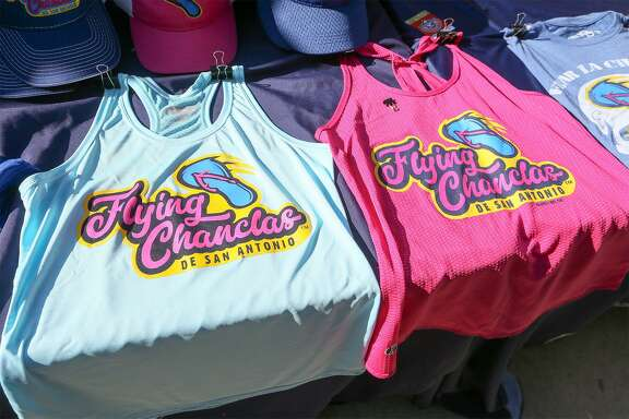 Flying Chanclas tops for sale during the Flying Chanclas' game with Tulsa at Wolff Stadium on Thursday, May 24, 2017. MARVIN PFEIFFER/mpfeiffer@express-news.net