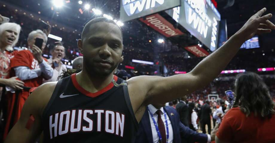 Houston Rockets guard Eric Gordon (10) walks off the court following Game 5 of the NBA Western Conference Finals at Toyota Center on Thursday, May 24, 2018, in Houston. ( Brett Coomer / Houston Chronicle ) Photo: Brett Coomer/Houston Chronicle