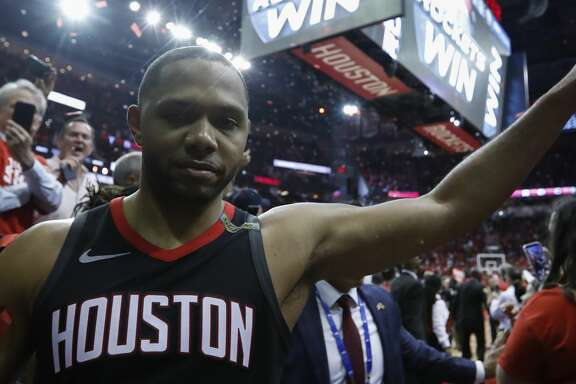 Houston Rockets guard Eric Gordon (10) walks off the court following Game 5 of the NBA Western Conference Finals at Toyota Center on Thursday, May 24, 2018, in Houston. ( Brett Coomer / Houston Chronicle )