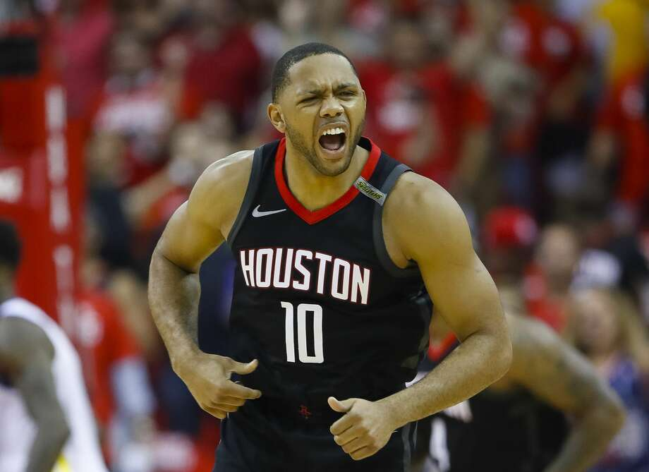 Eric Gordon, whose fourth-quarter play helped seal the Game 5 win over the Warriors, will move into the starting lineup Saturday with Chris Paul out. Photo: Brett Coomer/Houston Chronicle