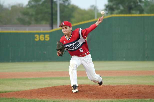 Dawson's Adam Houghtaling (6) pitches against Pearland Friday, Mar. 23 at Pearland High School.