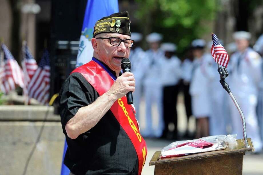 James A. Sparrow at the Memorial Day Parade in Stamford in 2016, when he served as grand marshal Photo: Michael Cummo / Hearst Connecticut Media / Stamford Advocate