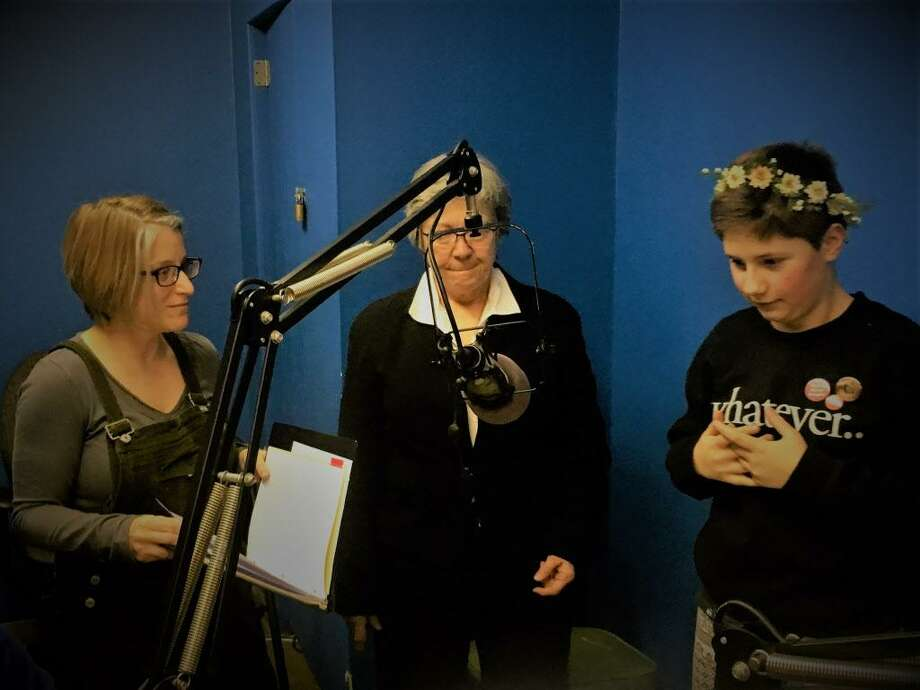 The Nutmeg Junction players will begin airing an old-style radio program on WESU 88.1-FM Sundays from 3:30 p.m. to 4:30 p.m. at the Middletown studio. Photo: Contributed Photo