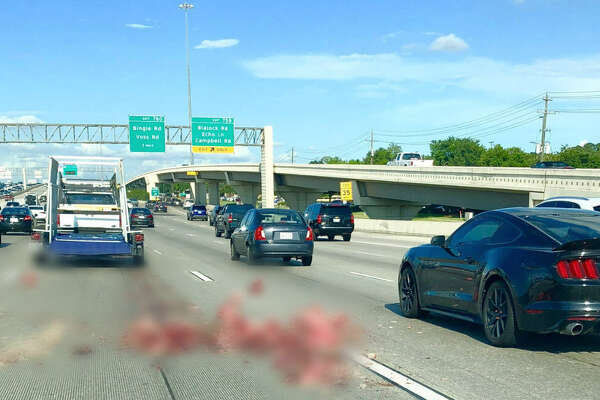 A lost load of butchered pig heads made the usual commute along I-10 extra fun on Thursday afternoon for travelers along the busy stretch of interstate.  See some memes that make Houston traffic a little more tolerable...