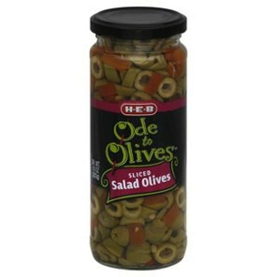 H-E-B has issued a recall for its Ode to Olives sliced salad olives sold in 10-ounce jars because of there might be glass in the product, according to a company press release. Photo: H-E-B