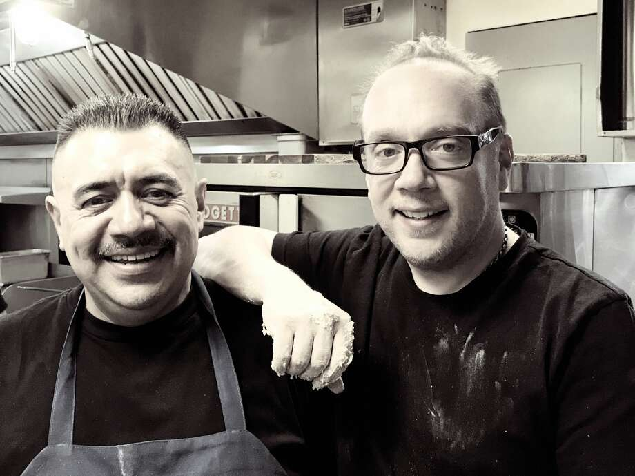 Executive Chef at The Village Tavern in Ridgefield, Conn. Luis López (left) and Tavern owner Bruno di Fabio (right) have both been invited to cook at the James Beard House in New York City on June 8, 2018. Photo: Contributed By Melissa Avanzato / Bruno Di Fabio