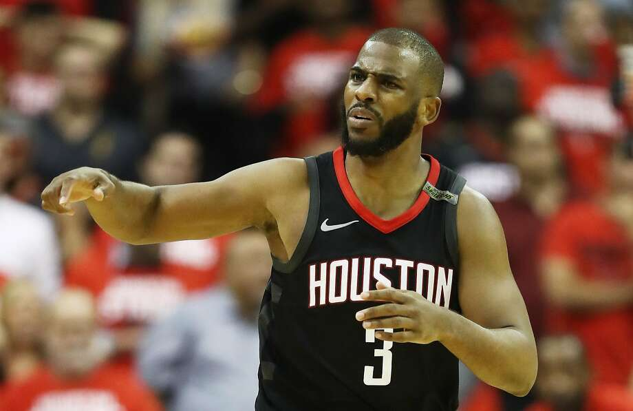 cf67c69ba91e Chris Paul of the Houston Rockets reacts against the Golden State Warriors  in the fourth quarter
