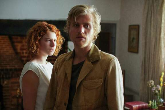 "Jessie Buckley and Johnny Flynn in the film, ""Beast."""