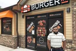Syed Shah, franchise owner, stands in front of the Burgerim at 7 Federal Road in Brookfield, Conn., on Tuesday, May 22, 2018. The restauant, which will be the first Burgerim in Connecticut, will open in early June.