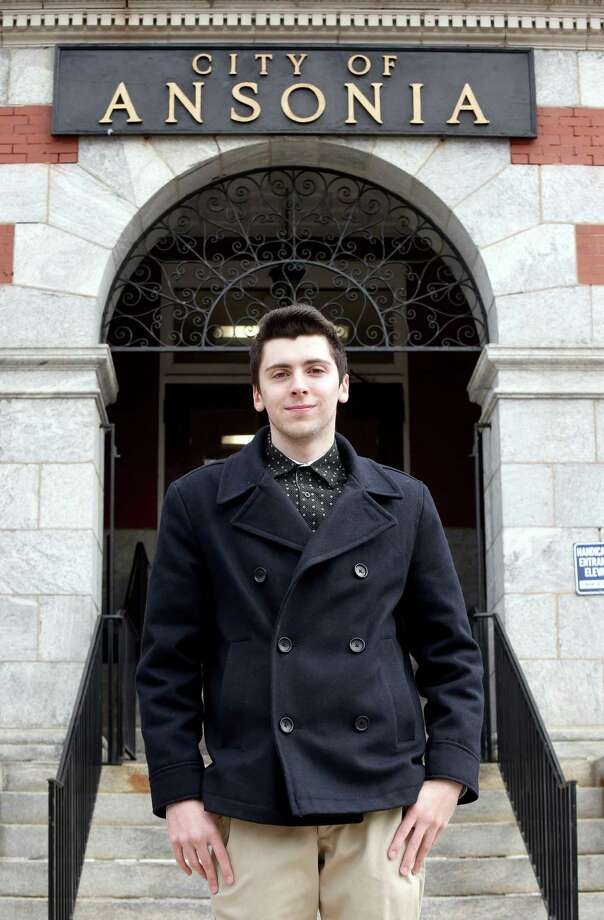 David Papcin, the 20-year-old chairman of Ansonia's Republican Town Committee, was endorsed to run as the Republican Registrar of Voters. Photo: Arnold Gold / Hearst Connecticut Media / New Haven Register