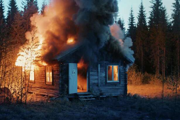 "Ragnar Kjartansson, ""Scenes from Western Culture, Burning House"" (2015)"