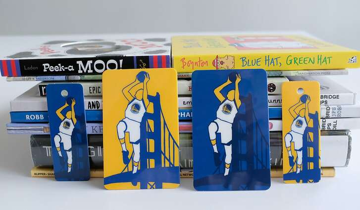 San Francisco's new Golden State Warriors library card.