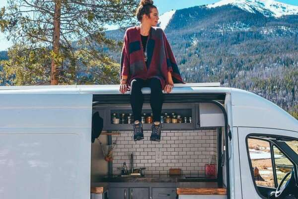 Sydney Ferbrache has more than 16,000 followers of her Instagram account illustrating life in a sprinter van.