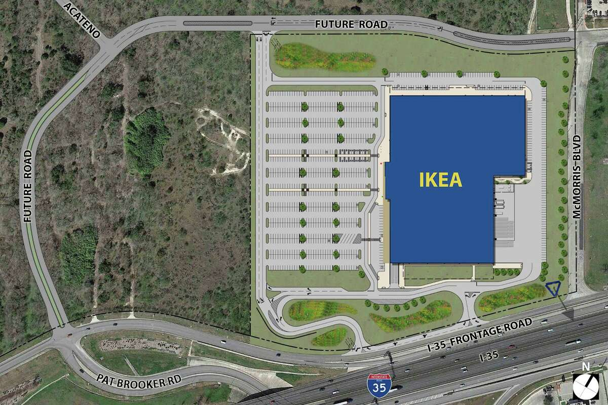 The 289,000 square-foot IKEA Live Oak store is scheduled to open spring 2019 near the intersection of Interstate 35 and Loop 1604.