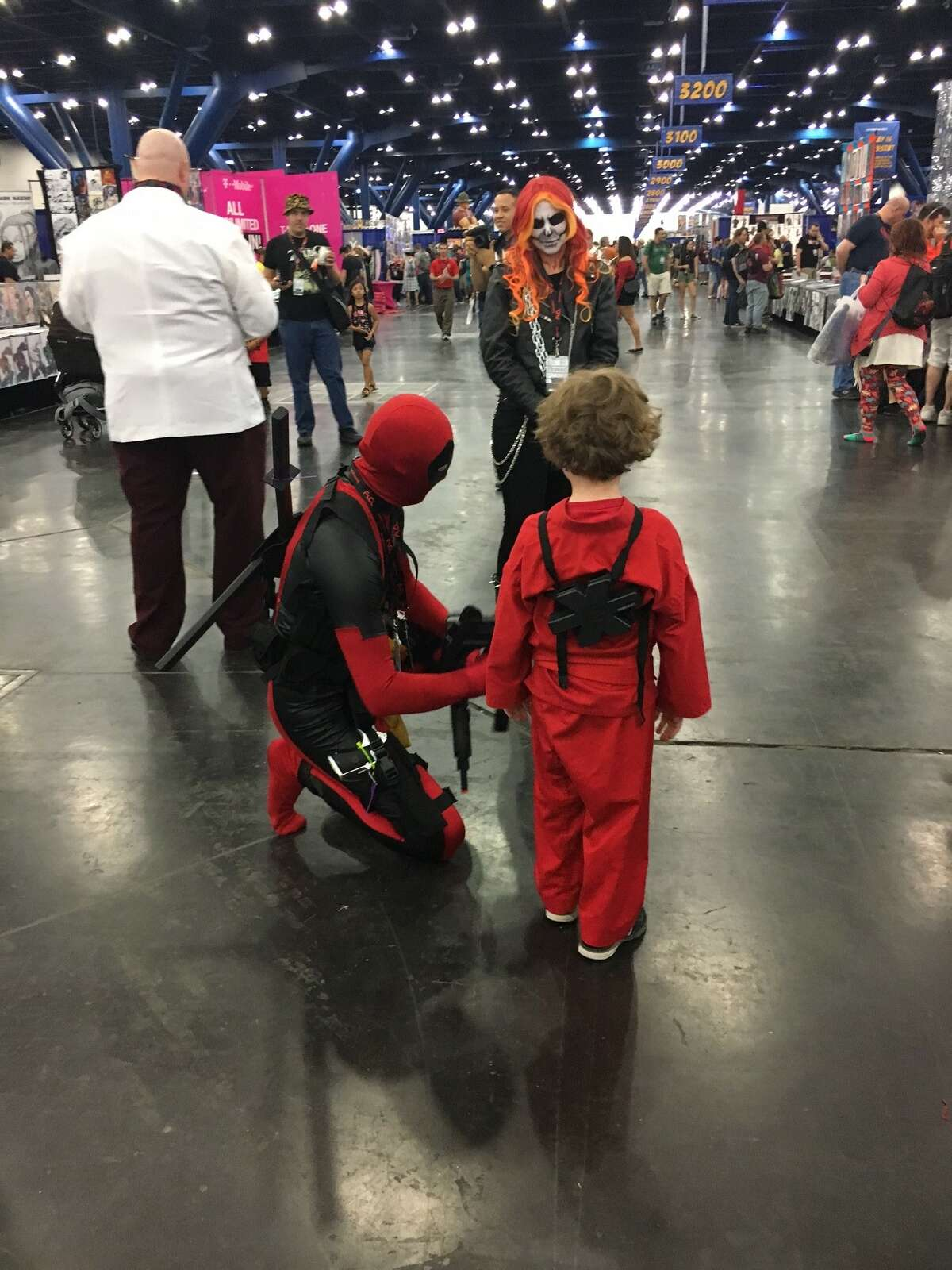 A small, but growing legion of fans attend the opening of Comicpalooza at the George R. Brown Convention Center in Houston, Texas on May 25, 2018.