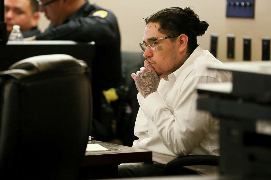 Daniel Moreno Lopez, 31, sits in the courtroom during the first day of testimony in his retrial of  in the 379th state District Court at the Cadena-Reeves Justice Center on Friday, May 25, 2017.  Lopez is one of three defendants charged with killing Jose Luis Menchaca who was beaten with aluminum baseball bats, his limbs cut off and grilled on a barbecue pit.  Lopez's first trial in March, 2017 ended in a mistrial.  MARVIN PFEIFFER/mpfeiffer@express-news.net