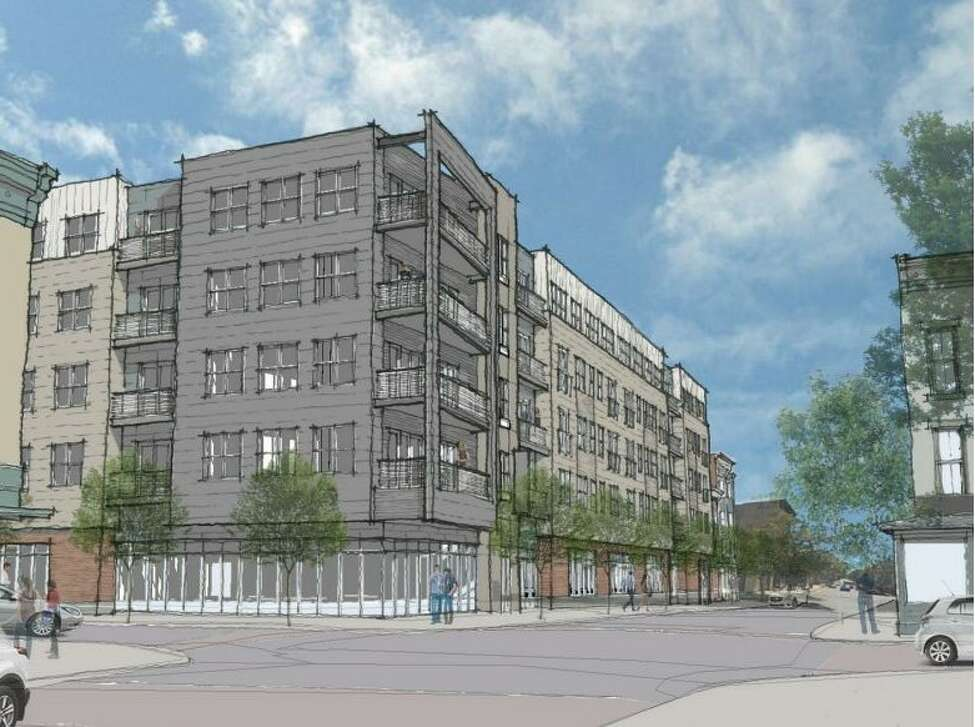Rosenblum Companies plans to build a mixed-use building at the former KeyBank site in Troy on Fourth and Congress streets.