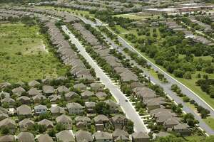 State District Judge David Canales on Tuesday denied a motion for a new trial in the case that produced a record $706 million verdict. Amrock Inc., which lost the case to HouseCanary Inc., has said it would appeal if it wasn't granted a new trial. Shown are subdivisions near Culebra Road outside Loop 1604 on the city's expanding west side.